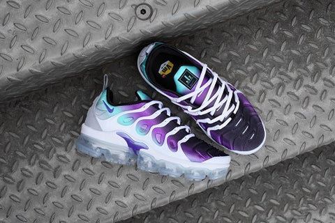online retailer c31e5 12a70 This revamp nods to the super-techy Air Max Plus of 1998 with its floating  TPU cage, compression molded upper and heel logo while revolutionary  VaporMax Air ...