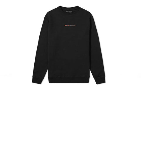 Maharishi Long Redacted Miltype Crew Sweat Black
