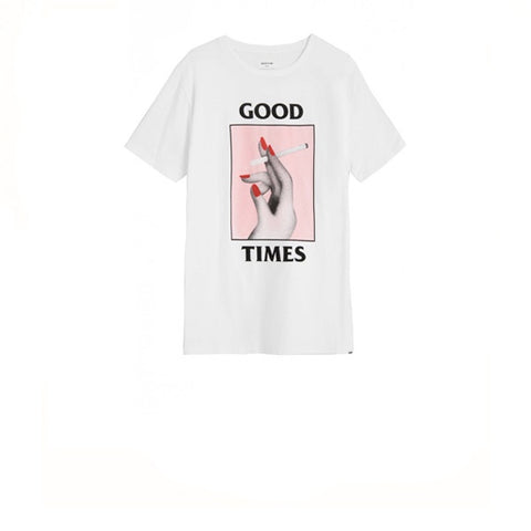 WOOD WOOD Good Times T-Shirt Bright White