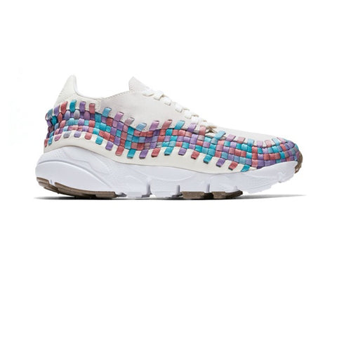 Nike Wmns Air Footscape Woven Sail White Red Stardust