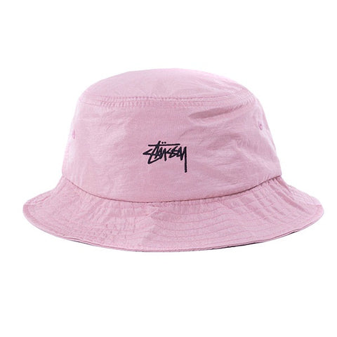 Stussy Nylon Taslan Bucket Hat Red