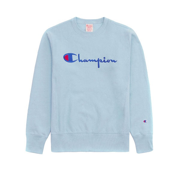 Champion Emb Logo Script Sweat Blue