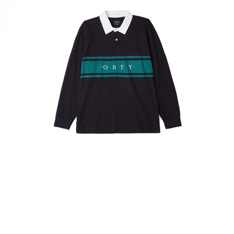 Obey Hero Classic L/S Polo Black