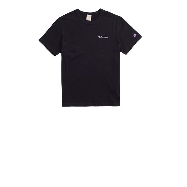Champion Small Script Crewneck T-Shirt Black