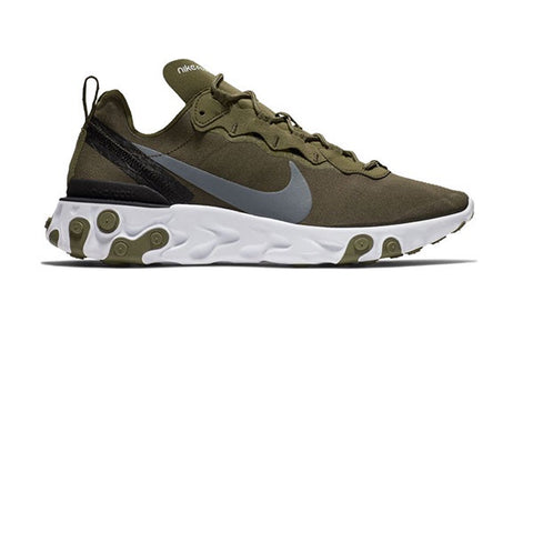 Nike React Element 55 Medium Olive Cool Grey