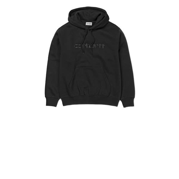 Carhartt WIP Hooded Script Sweat Black/Black