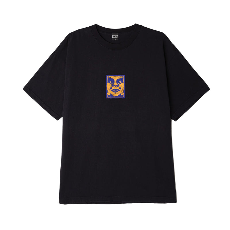 Obey Sketchy Face Tee Black