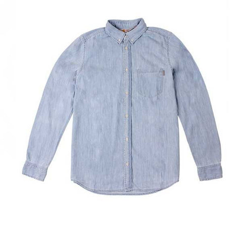Carhartt L/S Civil Shirt Blue Stone Washed - Kong Online - 1