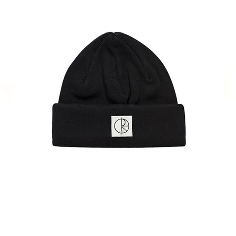 Polar Double Fold Cotton Beanie Black