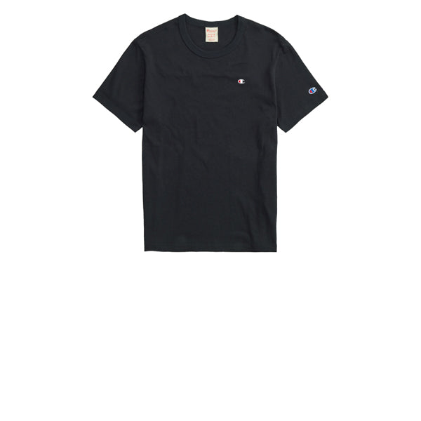 Champion Emb Back Script Crewneck T-Shirt Black