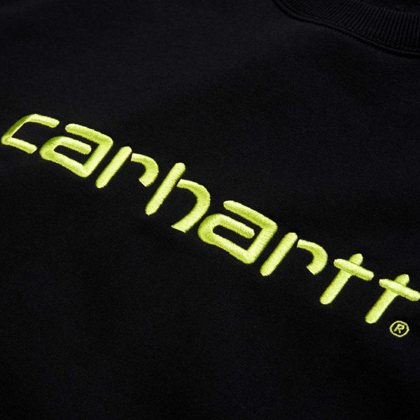 Carhartt Sweat Black Lime