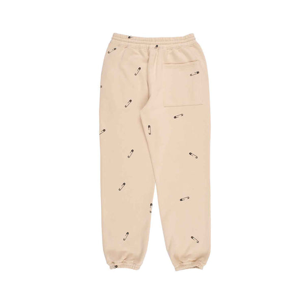 Pleasures Safety Embroidered Sweat Pant Creme