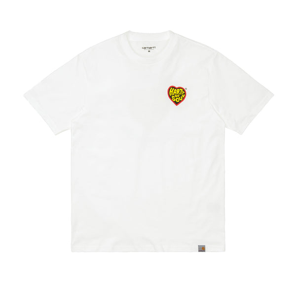 Carhartt WIP S/S Hartt Of Soul T-Shirt Organic Cotton White