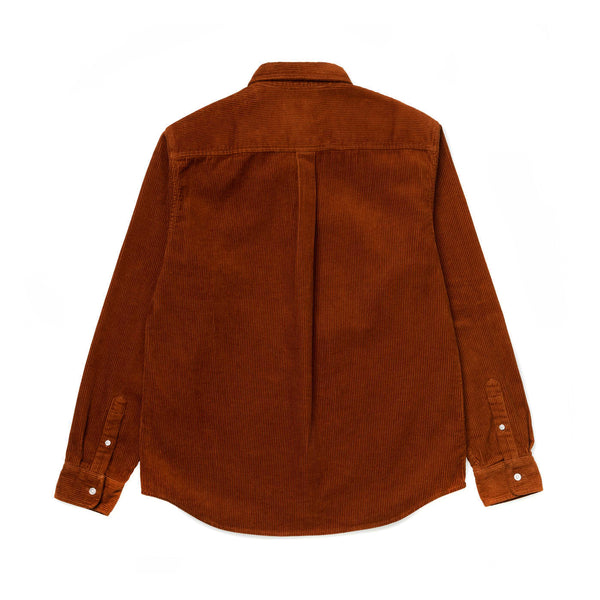 Carhartt WIP L/S Madison Cord Shirt Brandy/Wax