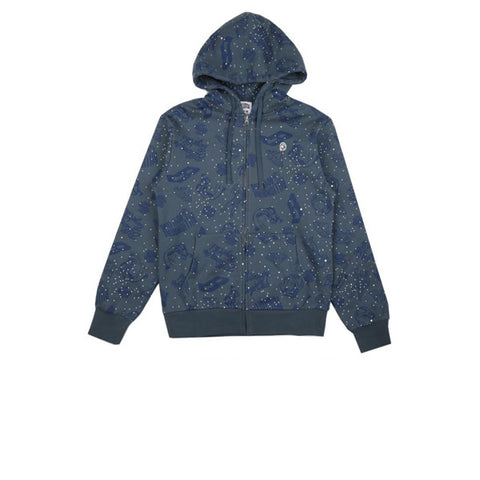 BBC Galazy All-Over Print Zip Through Hood Blue