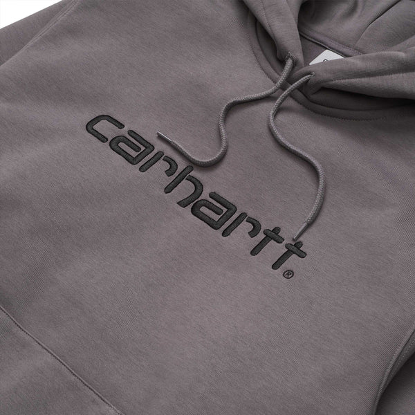 Carhartt WIP Hooded Script Sweat Husky/Black