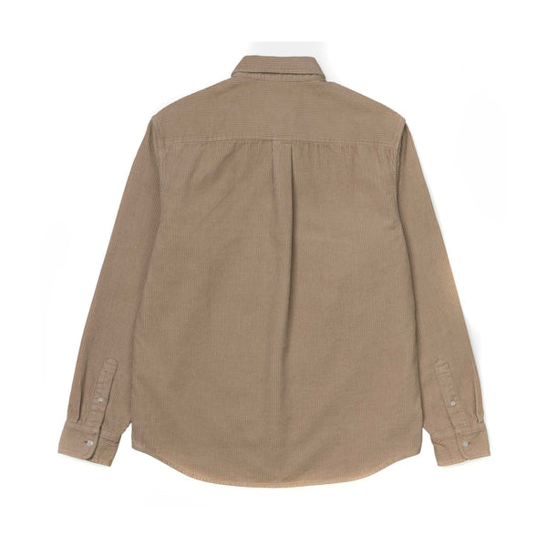 Carhartt WIP L/S Madison Cord Shirt Wall/Black