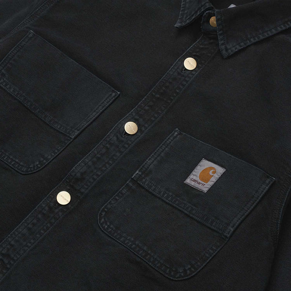 Carhartt Glenn Shirt Jacket Black Worn Canvas