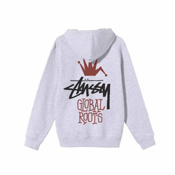 Stussy Global Roots Hood Ash Heather