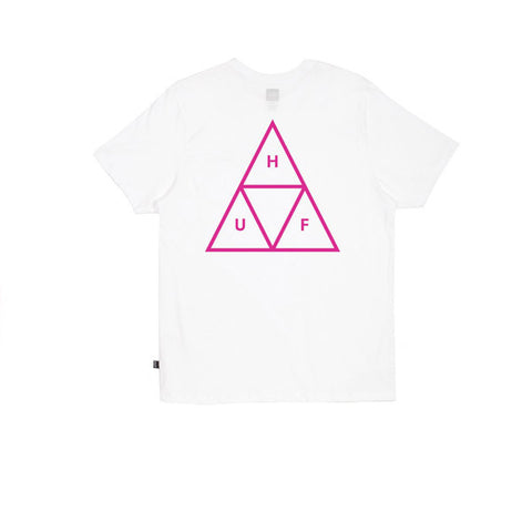 Huf Puff Triple Triangle Tee White