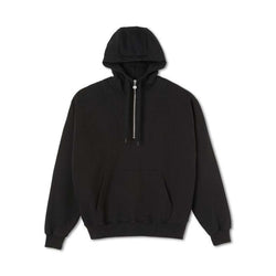 Polar Half Zip Hood Black