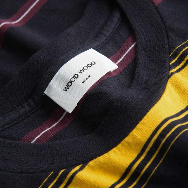 WOOD WOOD Perry T-Shirt Yellow Stripe