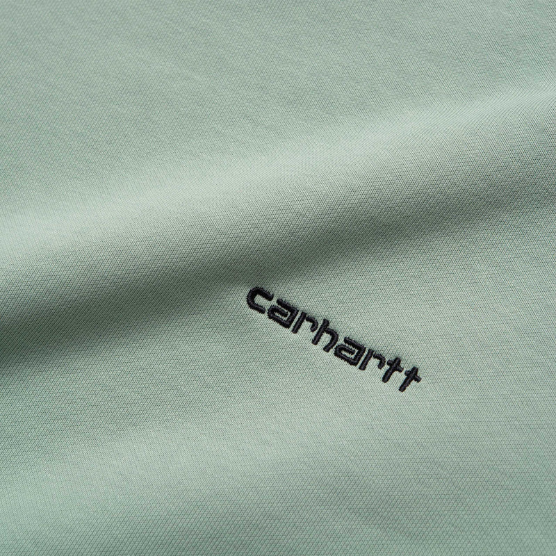 Carhartt WIP Script Embroidery Sweat Frosted Green/Black