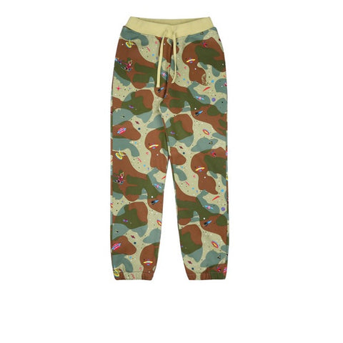 BBC Space Camo Thermal Sweatpants Beige Camo