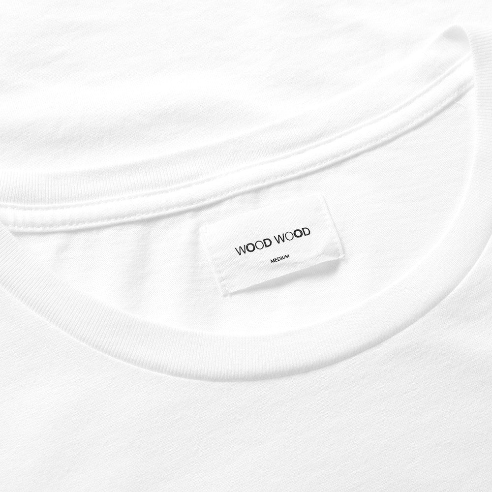 WOOD WOOD WW Square T-Shirt White - Kong Online - 4