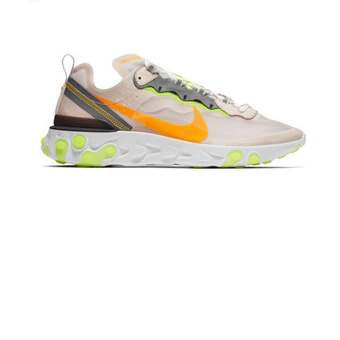 Nike React Element 87 Light Orewood Brown Lazer Orange