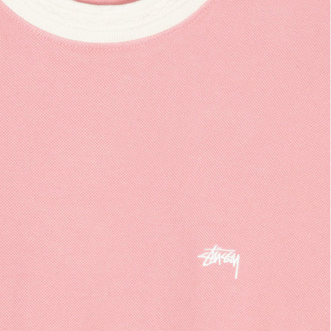 Stussy Diamond Collar Heavy Pique Pink
