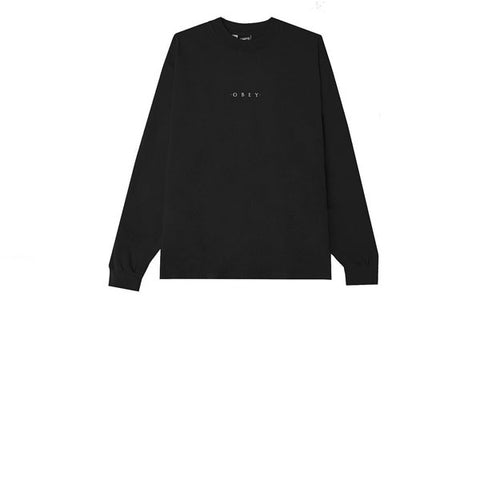 Obey Novel Obey L/S Tee Off Black