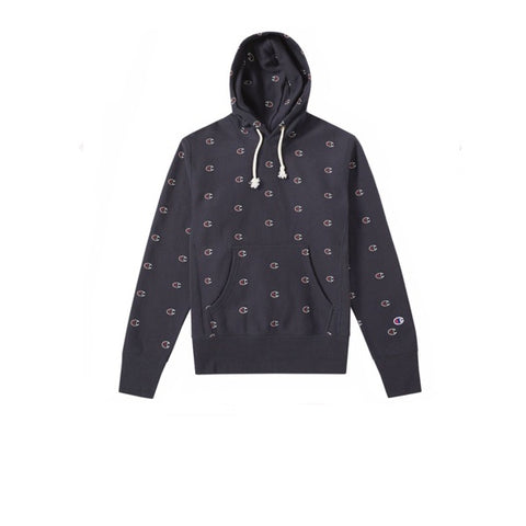 Champion Hooded Sweatshirt Navy Mini Logo