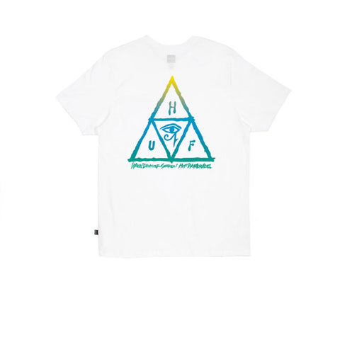 Huf RA Triple Triangle Tee White