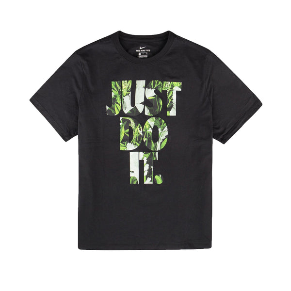 Nike SS Just Do It Floral Tee Black