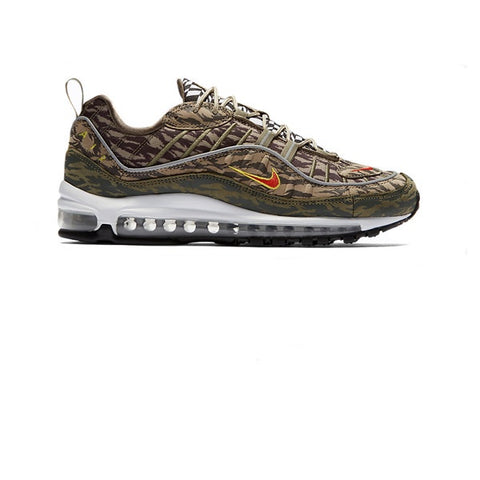 Nike Air Max 98 AOP Khaki Team Orange Medium Olive