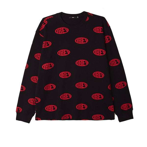 Obey Ask Thermal L/S Tee Black Multi