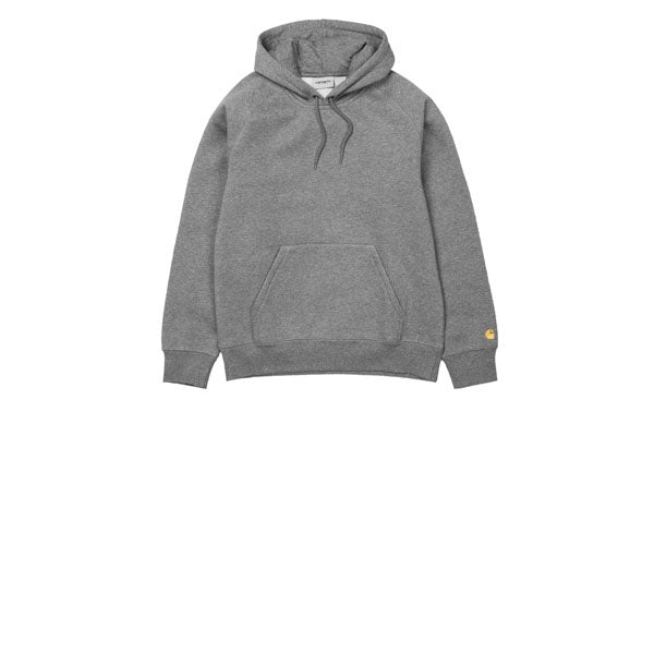 Carhartt Hooded Chase Sweat Dark Grey Heather Gold