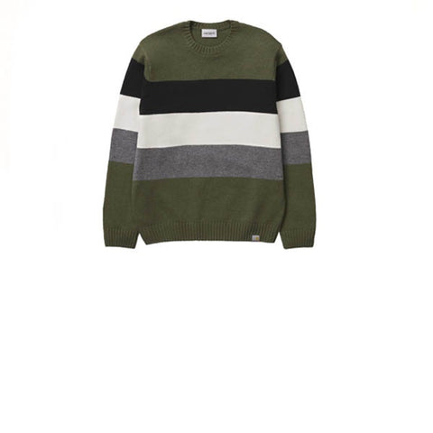 Carhartt Goldner Sweater Goldner Stripe Rover Green