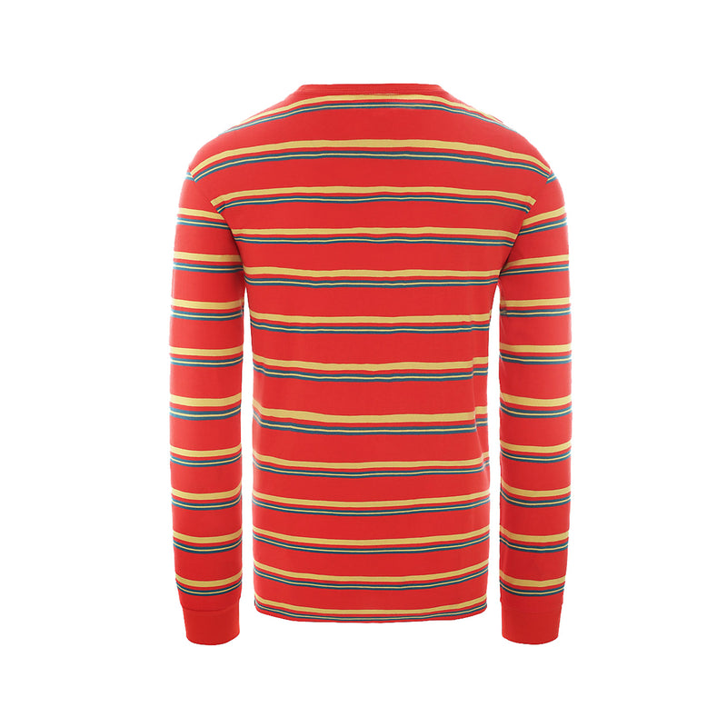 The North Face Boruda LS Tee Fiery Red Stripe