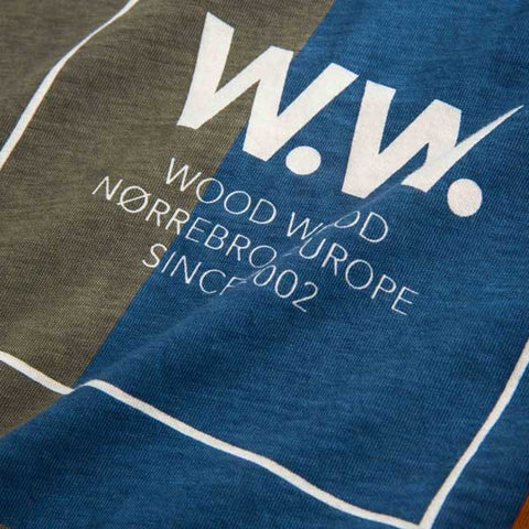 WOOD WOOD WW Quilt T-Shirt Off White