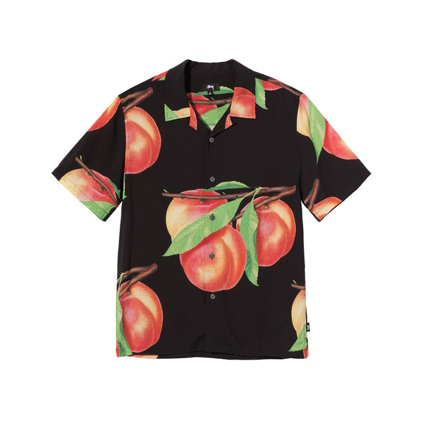 Stussy Peach Pattern Shirt Black
