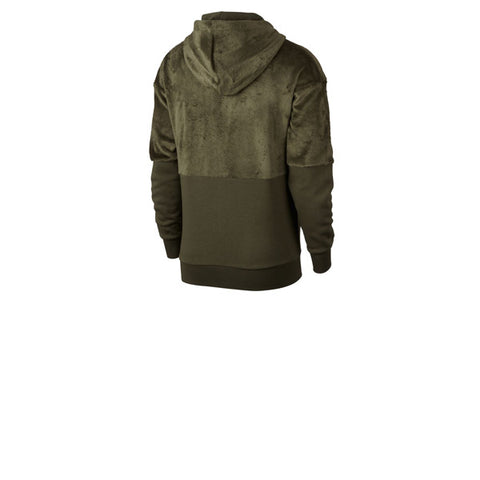 Nike Velour Hoodie Olive Canvas