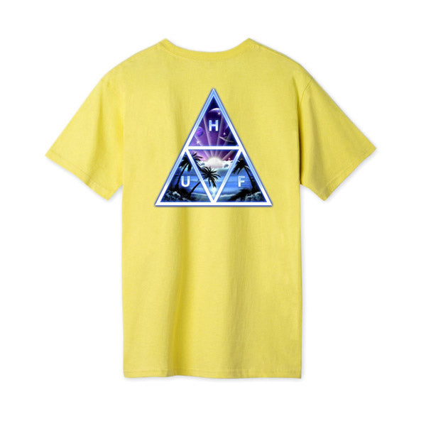 HUF Space Beach TT SS Tee Yellow