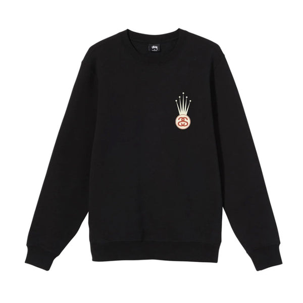 Stussy Crown Link Crew Black