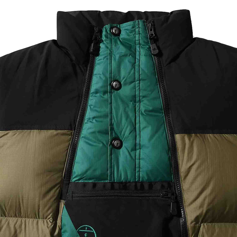 The North Face Steep Tech Down Jacket Burnt Olive Green/Evergreen/TNF Black