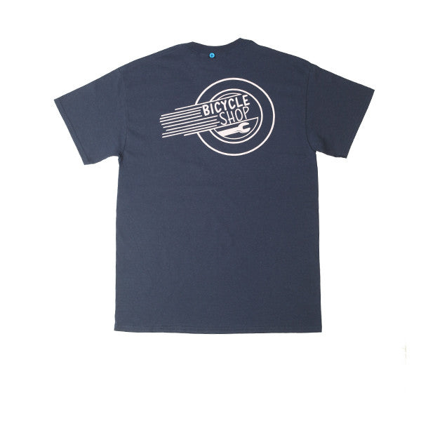 FNKST Bicycle Shop Tee Navy Pink - Kong Online - 2
