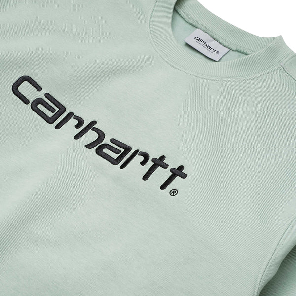 Carhartt WIP Script Sweat Frosted Green/Black