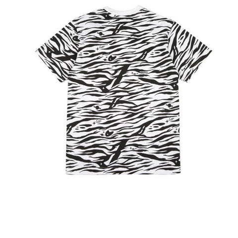 BBC Zebra Camo All-Over Print T-Shirt White