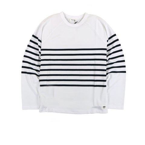 WOOD WOOD Tyrone Longsleeve Bright White - Kong Online
